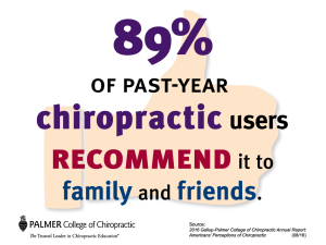 89% of past-year chiropractic users recommend it to family and friends